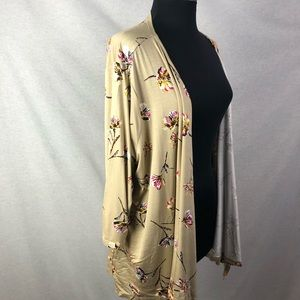 Maurices Tan Floral Cardigan